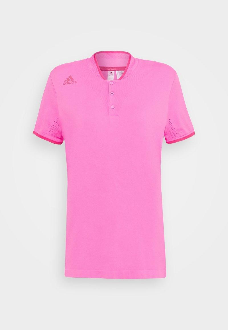 adidas Golf - PRIMEKNIT SHORT SLEEVE - Print T-shirt - screaming pink