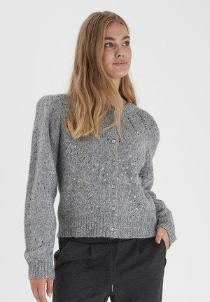 BYOKSANA  - Cardigan - mid grey melange