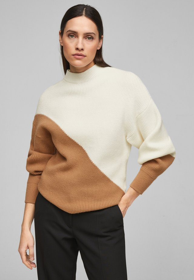 Trui - camel cream knit