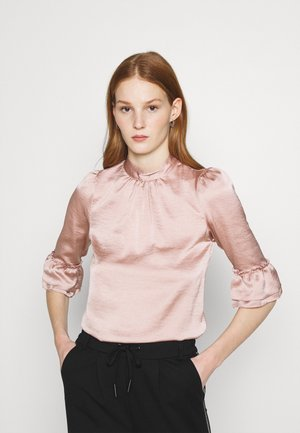HIGH NECK 3/4 SLEEVE BLOUSE - Long sleeved top - blush