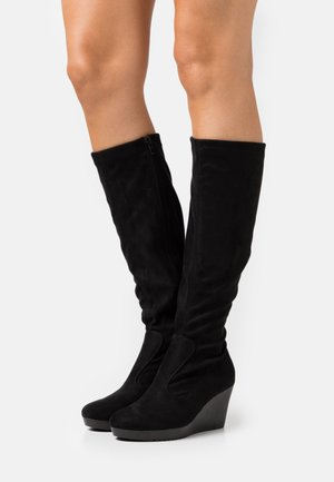 HUMMINGBIRD - Wedge boots - black