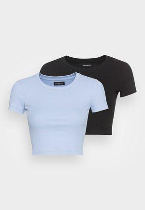 2PACK - Jednoduché triko -  black/light blue