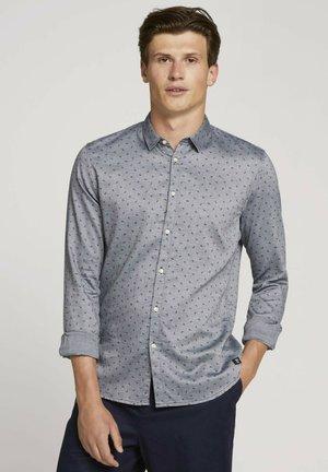 GEPUNKTETES - Shirt - navy petrol leaf print