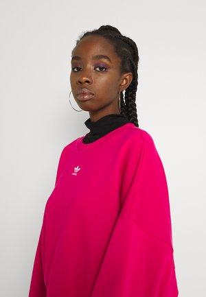 Sweatshirt - bold pink