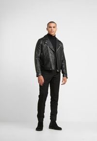 Samsøe Samsøe - SPIKE JACKET  - Leather jacket - black - 1