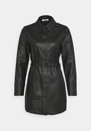 MATIAMU BY SOFIA BELTED MINI DRESS - Shirt dress - black