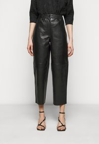 Lovechild - ASTON - Leather trousers - black - 0
