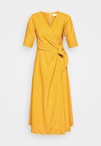 Closet - CLOSET SHORT SLEEVE WRAP DRESS - Shift dress - mustard - 3