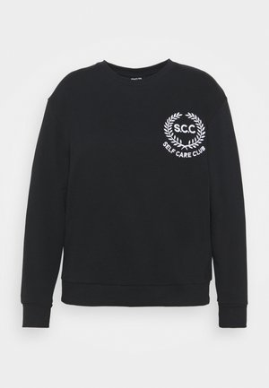 SLOGAN CREW NECK - Sweatshirt - black