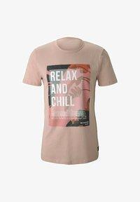 TOM TAILOR DENIM - Print T-shirt - soft peach skin - 4