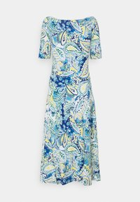 Lauren Ralph Lauren - MUNZIE ELBOW SLEEVE CASUAL DRESS - Žerzejové šaty - blue multi - 1