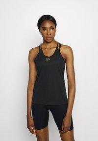 Nike Performance - FEMME ELASTIKA TANK - Toppe - black/metallic gold - 0