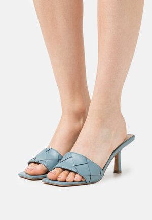 FRENZY - Heeled mules - slate blue