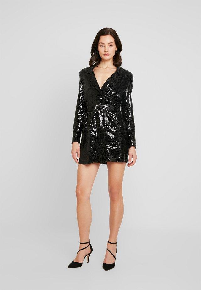 FABULOUS SEQUIN SUIT DRESS - Cocktailjurk - black