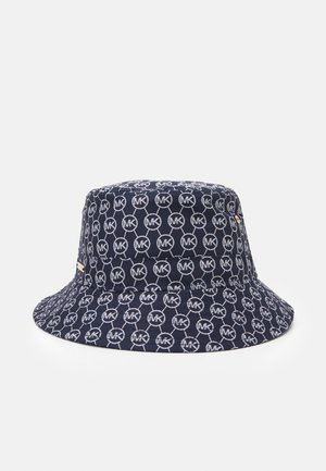 LOGO BUCKET HAT - Cappello - blue/white
