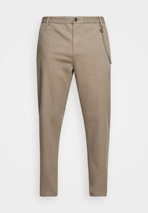 CROPPED LOOSE FIT PANTS - Trousers - sand