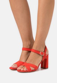 Dorothy Perkins - SELENA BLOCK  - High heeled sandals - coral - 0