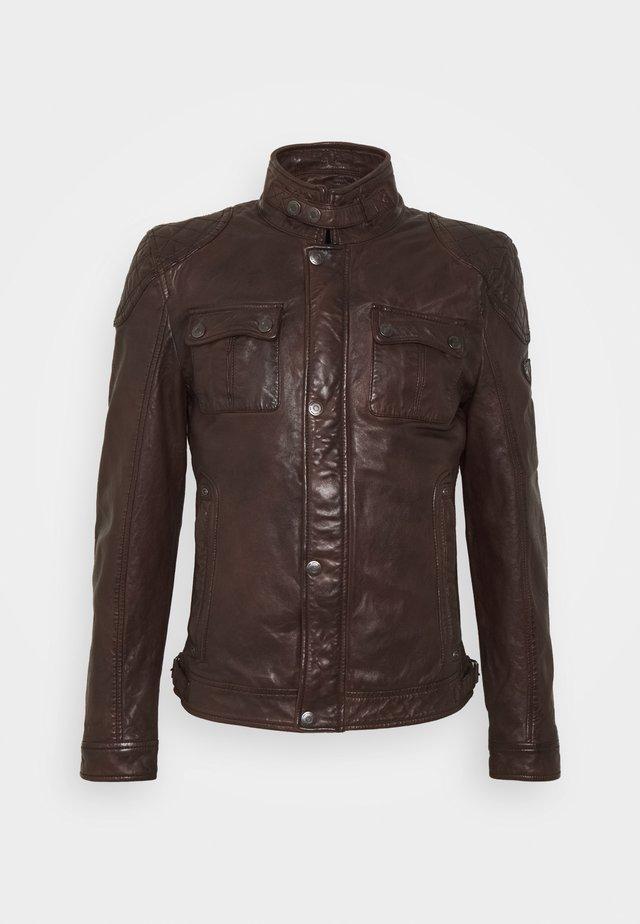 GMDARRIC - Veste en cuir - chestnut