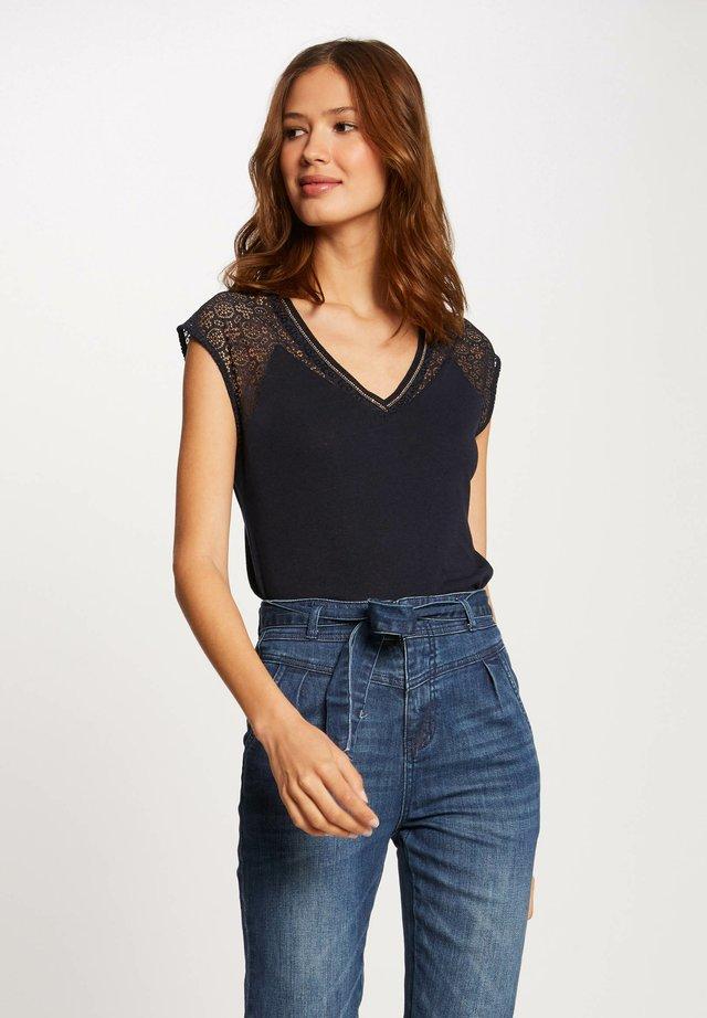 DELAN - Print T-shirt - dark blue