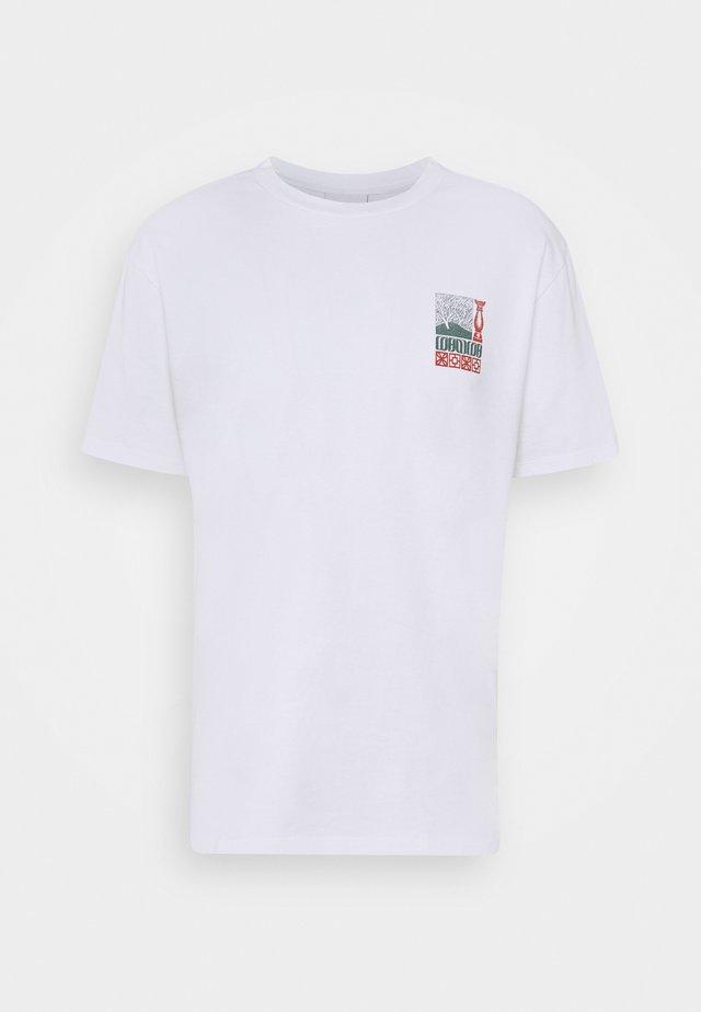 UNISEX CORANZULI - T-shirt imprimé - white