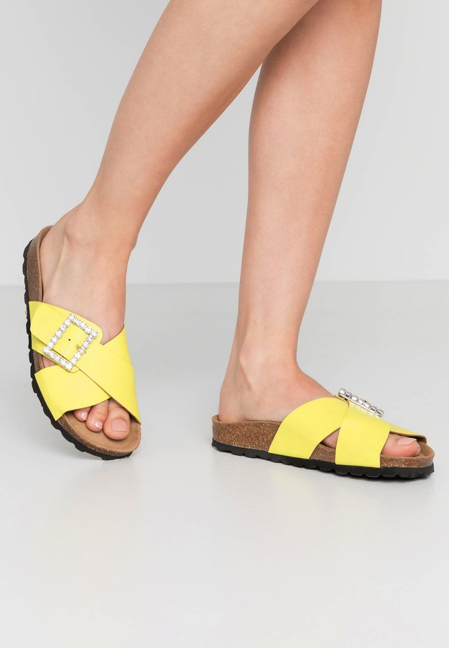 KIRBY - Mules - yellow