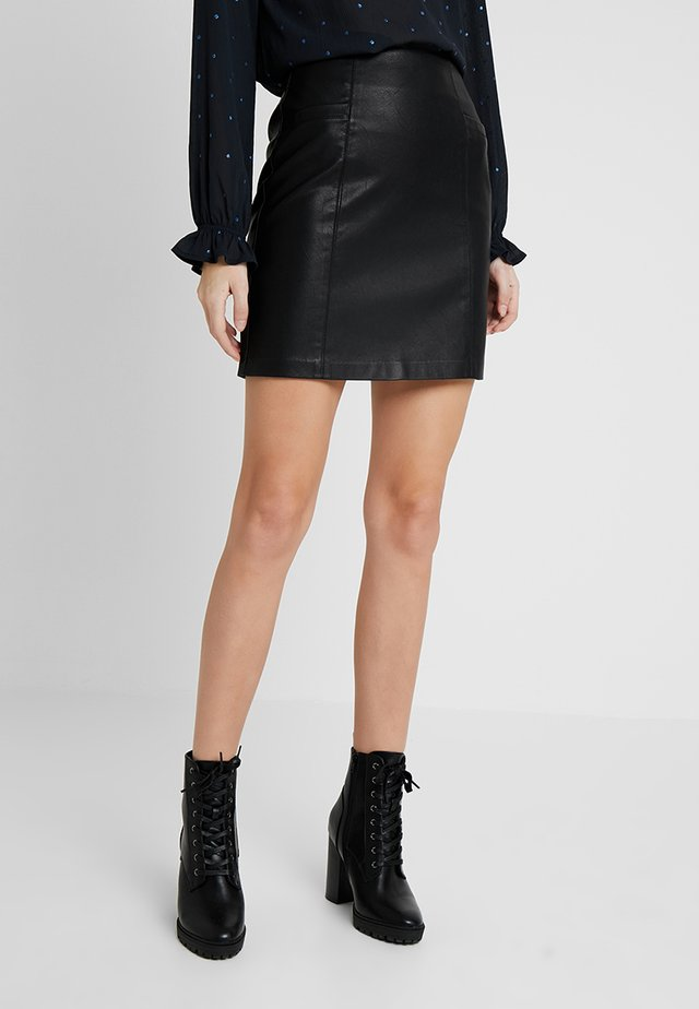 POCKET SKIRT - Kokerrok - black