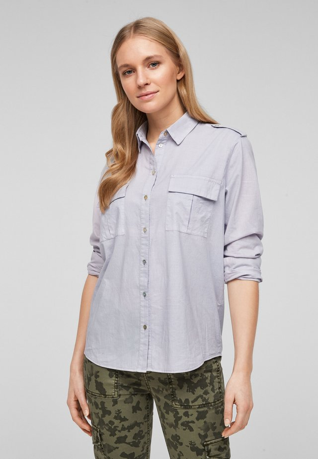 Button-down blouse - light lilac