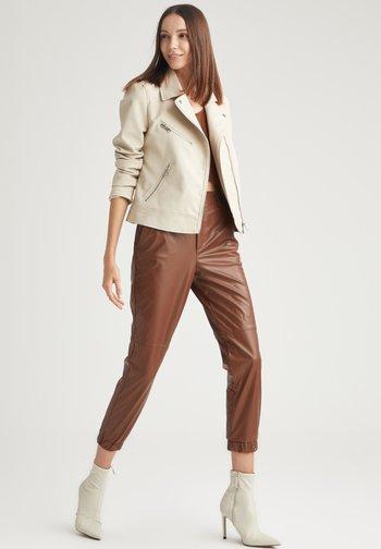 Faux leather jacket - beige