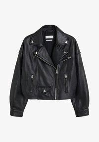 Mango - DANI - Leather jacket - black - 4