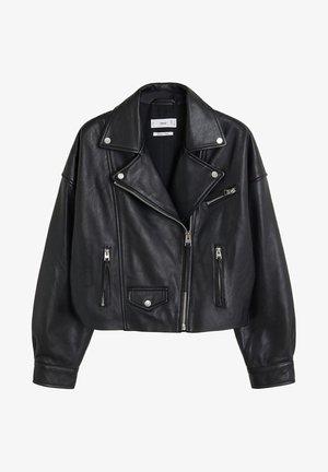 DANI - Veste en cuir - black