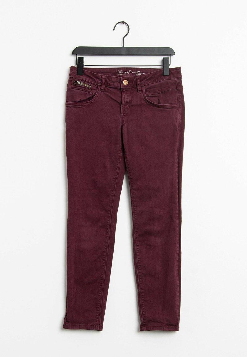 TOM TAILOR - Slim fit jeans - red