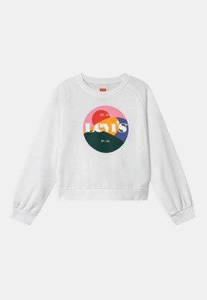 HIGH RISE RAGLAN CREW - Sweatshirt - white