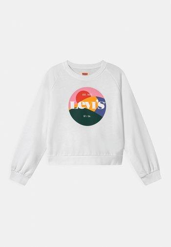 HIGH RISE RAGLAN CREW - Sweatshirt - white