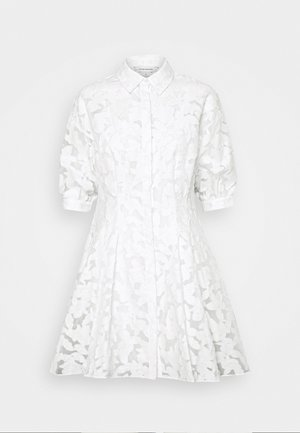 SCULPTURAL DRESS - Shirt dress - white
