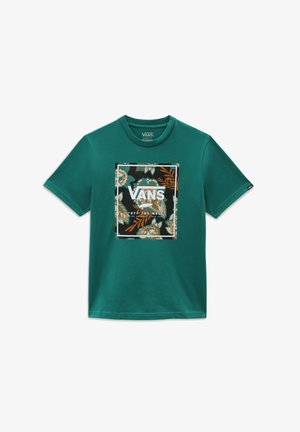 BY AUTUMN PRINT BOX BOYS SS - T-shirt med print - alpine green