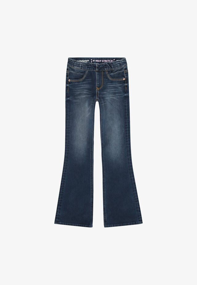 BRITNEY - Flared Jeans - blue vintage