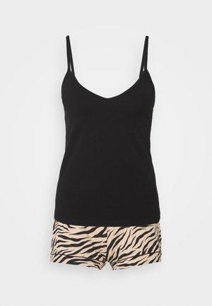 SET - Pyjama set - black/beige