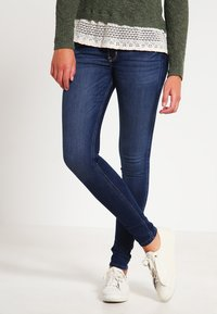 Hollister Co. - LOW RISE MEDIUM SUPER SKINNY - Skinny džíny - blue denim - 0