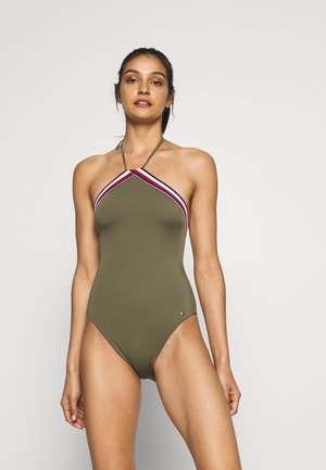 CORE SIGNATURE ONE PIECE - Badedrakt - army green