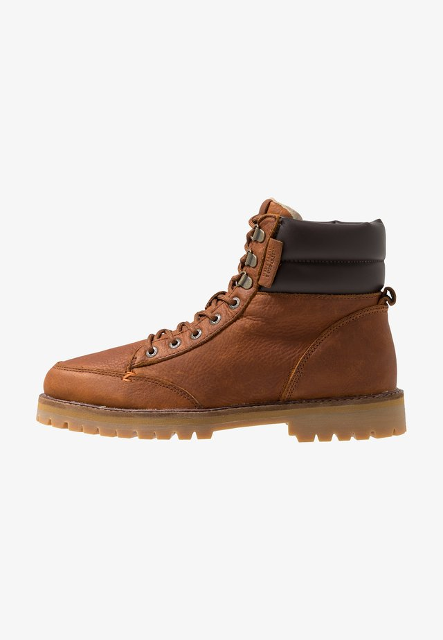 BELFAST - Lace-up ankle boots - cognac