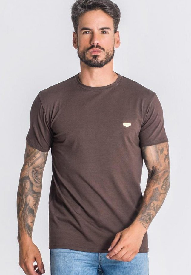 T-shirt basique - brown
