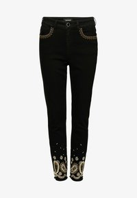 Desigual - DENIM_VIOLETA - Slim fit jeans - black