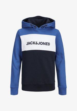 JJELOGO BLOCKING HOOD JR - Jersey con capucha - classic blue