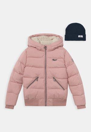 TANNIE - Winter jacket - dusty pink/dark blue