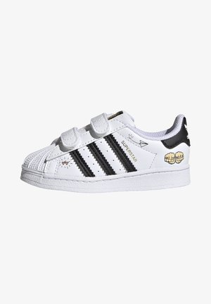SUPERSTAR SHOES - Sneakersy niskie - ftwr white/core black/gold met.