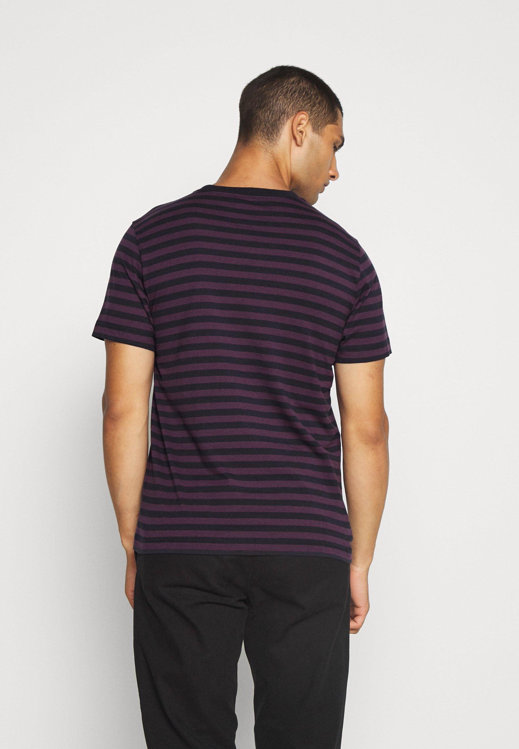 Carhartt Wip Parker Pocket - T-shirts Med Print Dark Navy/boysenberry