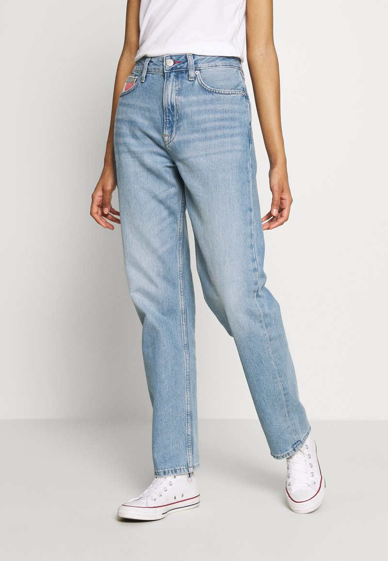 Tommy Jeans - HARPER STRGHT - Straight leg jeans - light blue denim