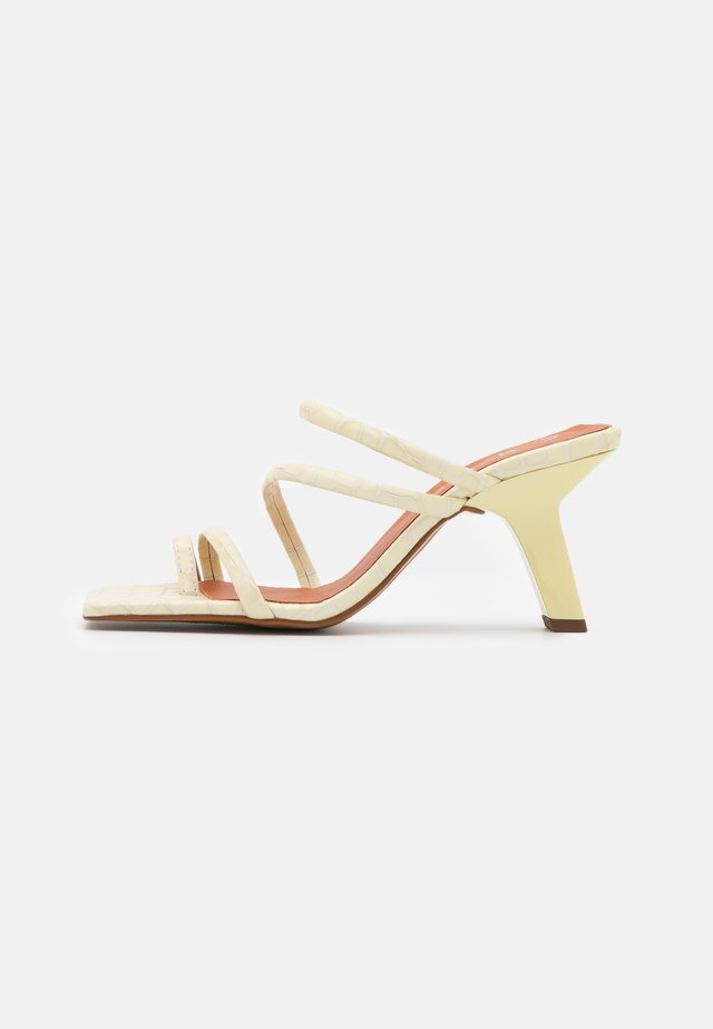 T-bar sandals - cream cotur