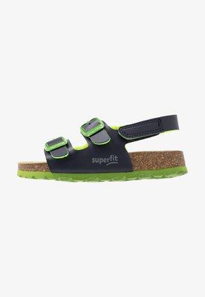 FUSSBETTPANTOFFEL - Sandalen - blau