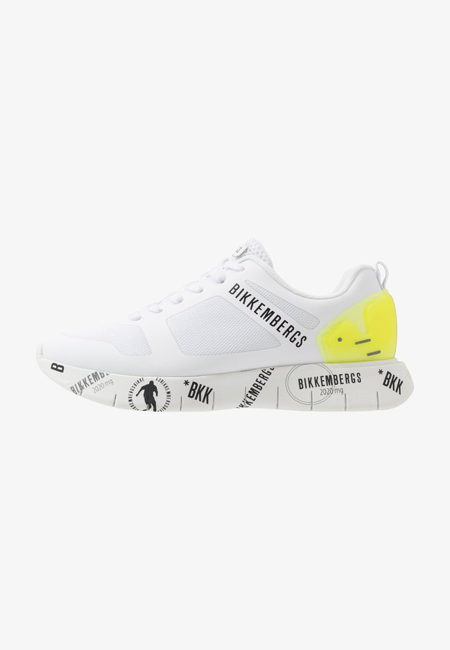 FLAVIO - Trainers - white/yellow fluo